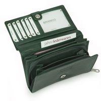 Branco – Große Geldbörse / Portemonnaie Größe L für Damen, aus Leder, Jäger-Grün, Modell 265