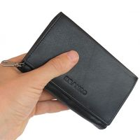 Branco - Leather Ladies Wallet, Coin Purse, Wallet Women, Model-265 Black