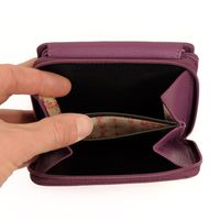 Branco - Leather, Ladies Wallet, Coin Wallet, Purse, Credit Card Holder, Model-29742 Berry
