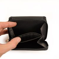 Branco – Large wallet / elegant purse size L for women made out of leather, black, model 29742