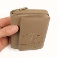 Branco - Leather, Ladies Wallet, Coin Wallet, Purse, Credit Card Holder, Model-29742 Beige