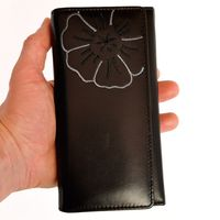 Branco – Very large wallet / purse size XL for women made out of Nappa leather, black, model 29918