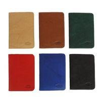Branco – A7 Hülle / Etui / Mappe z.B. für Ausweis, Fahrzeugschein, Führerschein und Kredit-Karten, Leder, Rot, Modell br-302
