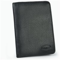 Branco - A7 Leather Credit Card Wallet with view window, Black, Model 302