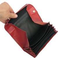 Hamosons – Professional waiter's wallet / waiter's purse made out of Nappa leather, red, model 1015