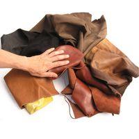Lederreste / Bastelleder in 3-Hand groß und größer  - prima Qualität