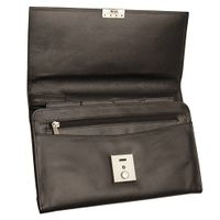 Jahn-Tasche – A5 document case / document holder, made out of leather, black, model 1021