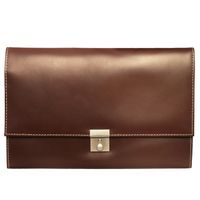 Jahn-Tasche – A4 document case / document holder made out of leather, brown, model 1022