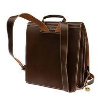 Jahn-Tasche – Sehr Großer Lederrucksack / Lehrer-Rucksack Größe XL aus Leder, Braun, Modell 670