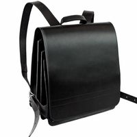 Jahn-Tasche – Very Large leather backpack / teacher backpack size XL made out of leather, black, model 670