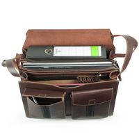 Jahn-Tasche – Large briefcase / teacher bag size XL made out of leather, brown, model 675