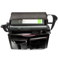 Jahn-Tasche – Große Aktentasche / Lehrertasche Größe XL aus Leder, Schwarz, Modell 675