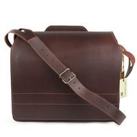 Jahn-Tasche – Large briefcase / teacher bag size XL made out of leather, brown, model 676