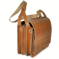 Jahn-Tasche – Very Large briefcase / teacher bag size XXL made out of leather, cognac brown, model 677