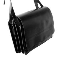 Jahn-Tasche – Very Large briefcase / teacher bag size XXL made out of leather, black, model 677