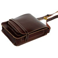 Jahn-Tasche – Men's handbag size M / shoulder bag made out of leather, A4 upright format, brown, model 685