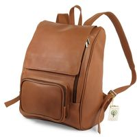 Jahn-Tasche – Large leather backpack size L / laptop backpack up to 15.6 inches, cognac brown, model 711