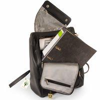 Jahn-Tasche – Großer Lederrucksack Größe L / Laptop-Rucksack bis 15,6 Zoll, Schwarz, Modell 711