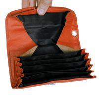 Hamosons – Profi Kellnerbörse / Kellnergeldbeutel aus Nappa-Leder, Orange, Modell 1015