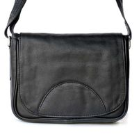 Hamosons – Small women's handbag size XS / shoulder bag in a retro look made out of Nappa leather, black, model 575