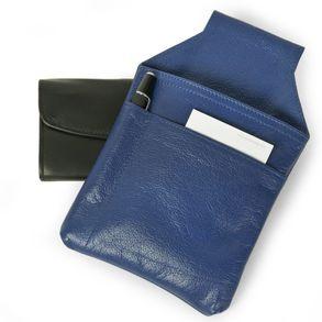 Hamosons – Profi Kellnerholster / Kellnerhalfter aus Nappa-Leder, Azur-Blau, Modell 1009