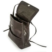 Harold's – Medium-sized Leather Backpack / Daypack size M, Brown, Model 445125