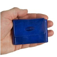 Branco – Very small wallet / coin purse size XS, made out of leather, royal blue, model 103