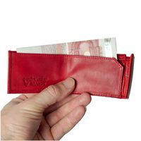 Branco – Very small wallet / coin purse size XS, made out of leather, red, model 103