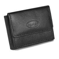 Branco – Sehr Kleine Geldbörse / Mini Portemonnaie Größe XS aus Leder, Schwarz, Modell 103