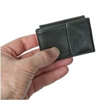 Branco – Very small wallet / coin purse size XS, made out of leather, black, model 103