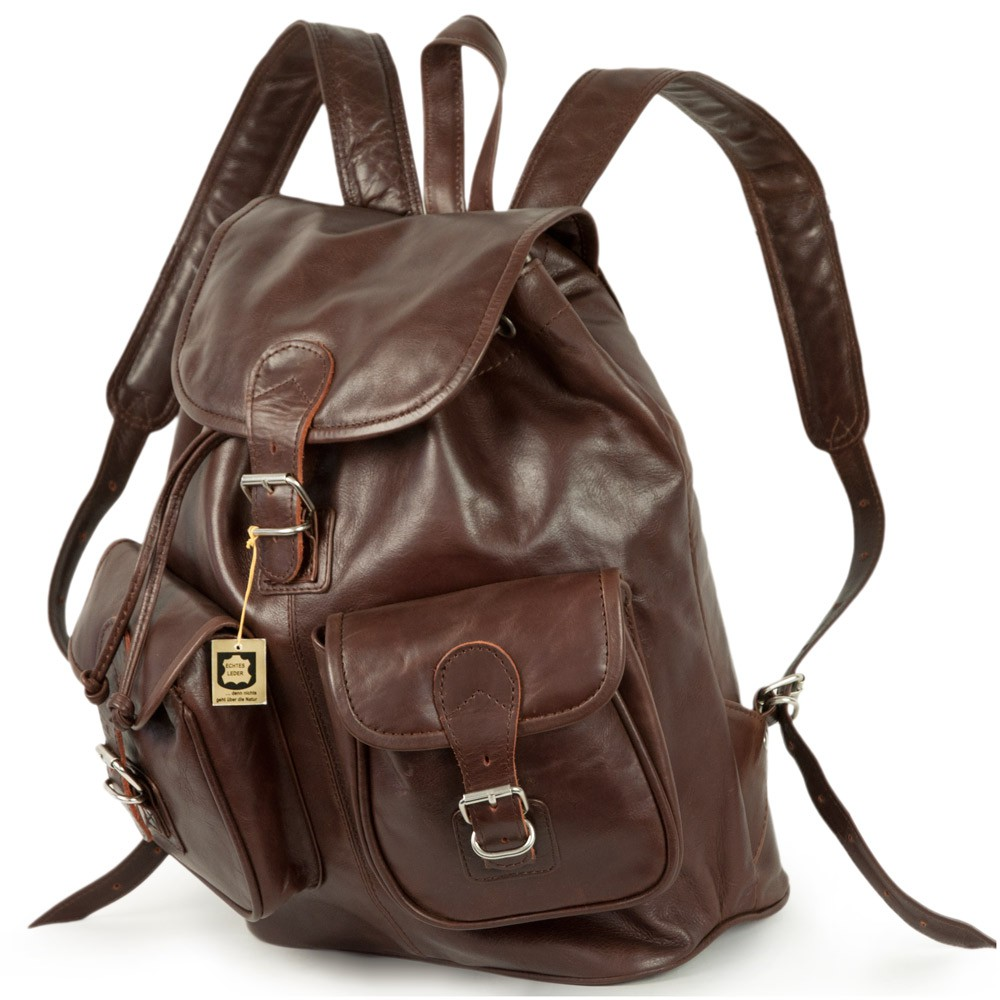 e0005d99bd90 Hamosons – Large leather backpack size L   laptop backpack up to 15.6  inches