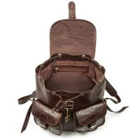 Hamosons – Large leather backpack size L / laptop backpack up to 15.6 inches, made out of oiled leather, chestnut brown, model 560