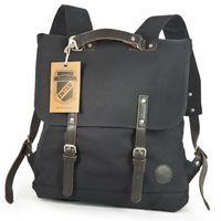 Enter – Großer stylischer Canvas Rucksack / Vintage Rucksack Größe L, Schwarz, Modell 1304
