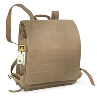 Jahn-Tasche – Very Large leather backpack / teacher backpack size XL made out of buffalo leather, cream beige, model 670