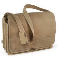 Jahn-Tasche – Sehr Große Aktentasche / Lehrertasche Größe XXL aus Büffel-Leder, Creme-Beige, Modell 677
