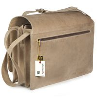 Jahn-Tasche – Very Large briefcase / teacher bag size XXL made out of buffalo leather, cream beige, model 677