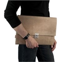 Jahn-Tasche – A4 document case / document holder made out of buffalo leather, cream beige, model 1022
