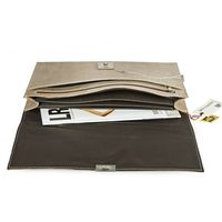 Jahn-Tasche – Exclusive A4 document case / document holder made out of buffalo leather, cream beige, model 1022