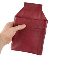 Hamosons – Professional waiter's holster / waiter's belt bag made out of Nappa leather, red, model 1009