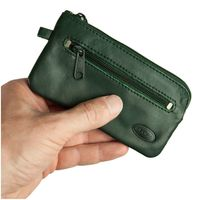 Branco – Large key case / key holder made out of leather, hunter's green, model 018