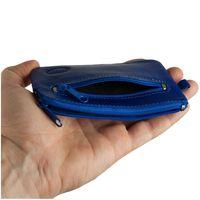 Branco – Large key case / key holder made out of leather, royal blue, model 018