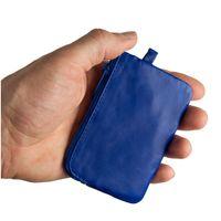 Branco – Kleines Schlüsseletui / Schlüsselmäppchen aus Leder, Azur-Blau, Modell 019