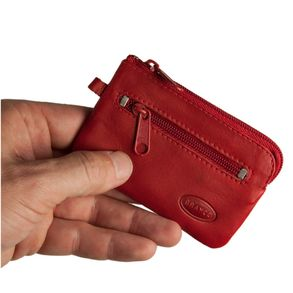 Branco – Small key case / key holder made out of leather, red, model 019