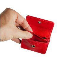 Branco – Sehr Kleine Geldbörse / Mini Münzbörse Größe XS aus Leder, Rot, Modell 108