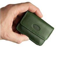 Branco – Sehr Kleine Geldbörse / Mini Münzbörse Größe XS aus Leder, Jäger-Grün, Modell 108