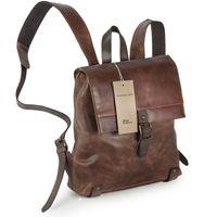 Harolds – Kleiner Lederrucksack Größe S / Rucksack Handtasche aus Leder, Braun, Modell 255802