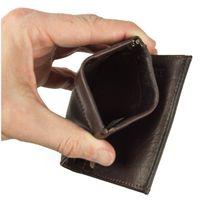 Branco – Kleine Geldklammer Geldbörse / Dollarclip Portemonnaie Größe S für Herren aus Leder, Braun, Modell 16795
