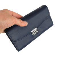 Hamosons – Professional waiter's wallet / waiter's purse made out of Nappa leather, dark blue, model 1015