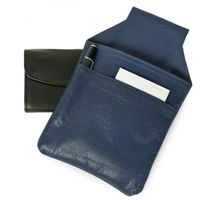 Hamosons – Professional waiter's holster / waiter's belt bag made out of Nappa leather, dark blue, model 1009