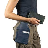 Hamosons – Professional waiter's holster / waiter's belt bag made out of Nappa leather, royale blue, model 1009